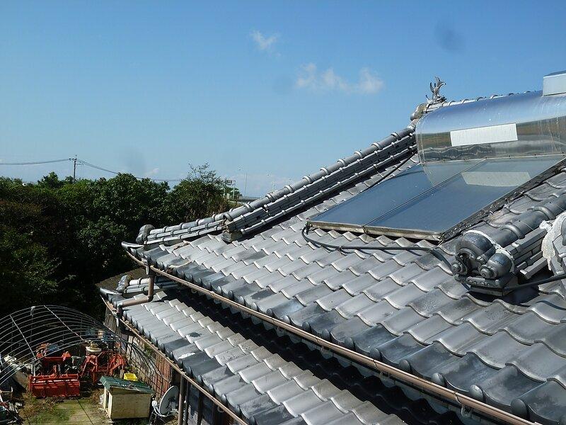 玉名市大浜にて地震被害の屋根修理  太洋瓦総工