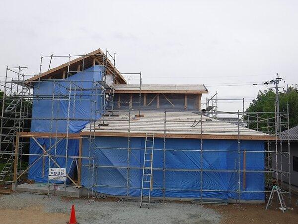 玉名市岱明町 新築屋根工事の画像
