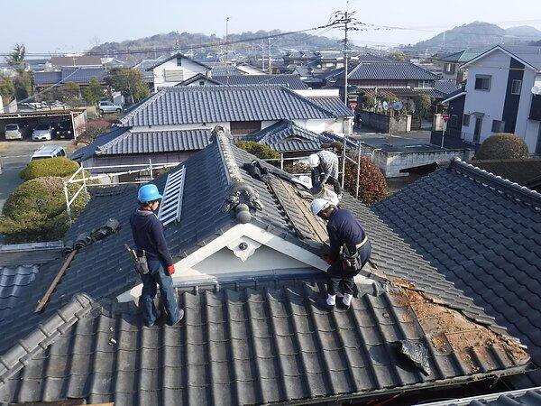 荒尾市 光明寺様において 屋根瓦の葺き替え 太洋瓦総工の画像