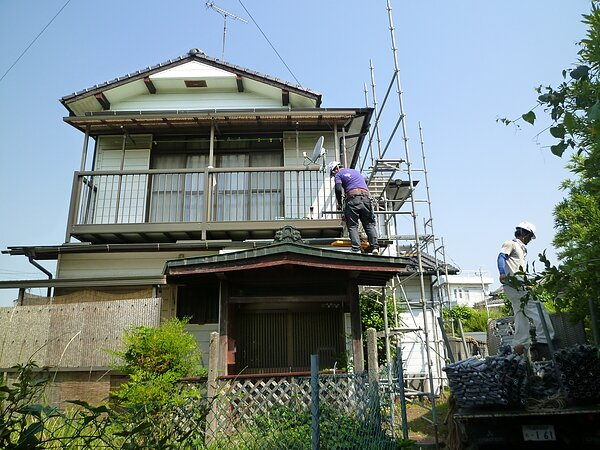 大牟田市上官町において、屋根板金の張替え   太洋瓦総工の画像