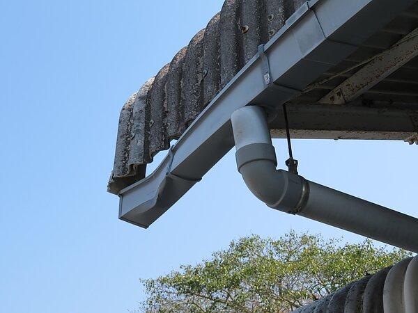 大牟田市草木:福岡スバル様に於いて、樋の修理。の画像