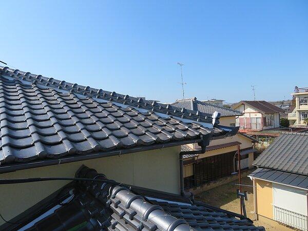 荒尾市桜山において、漆喰工事  太洋瓦総工の画像