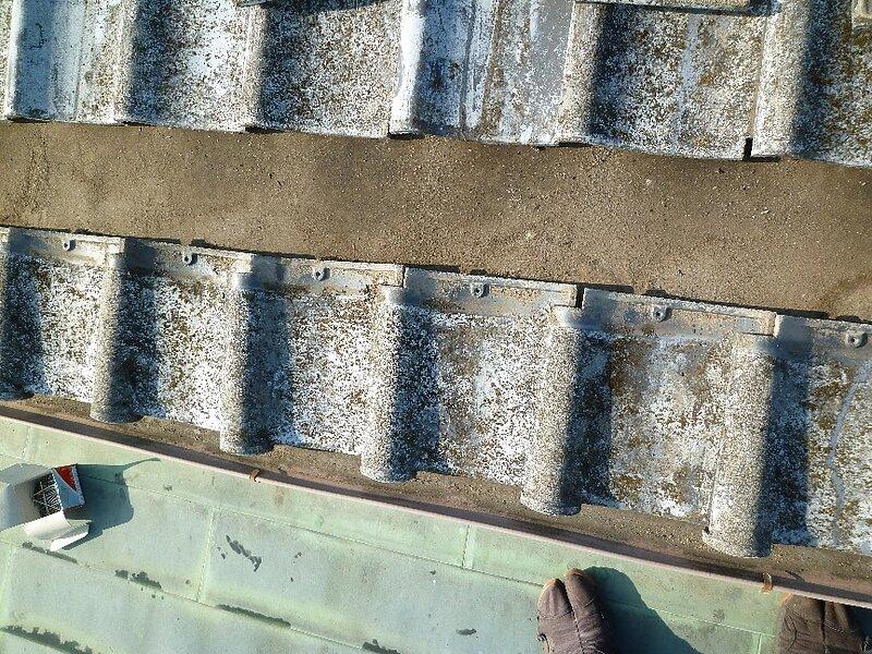 大牟田市 八本町において瓦止めと塗装を行います。 太洋瓦総工