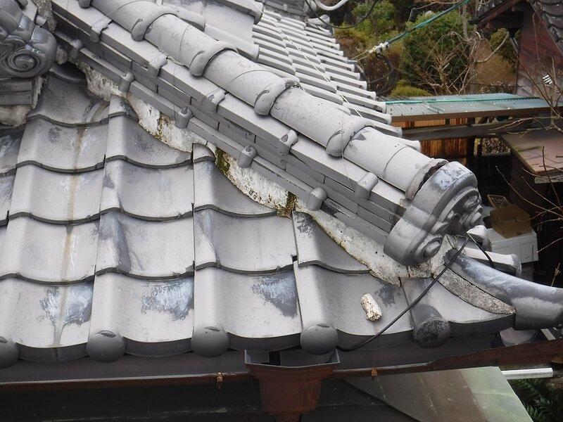 荒尾市本井手にて屋根の徹底修理
