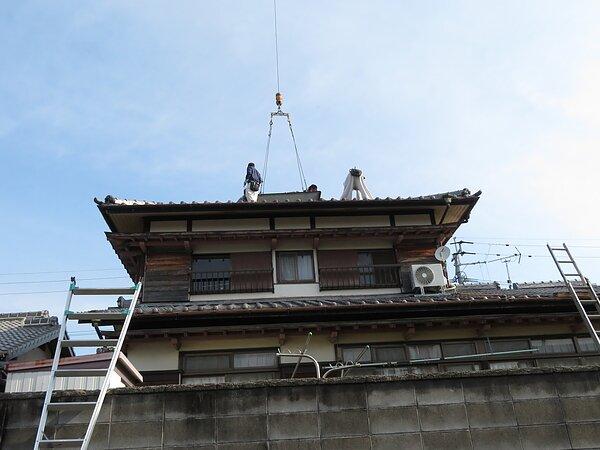 大牟田市三池において、瓦の葺き替え   の画像