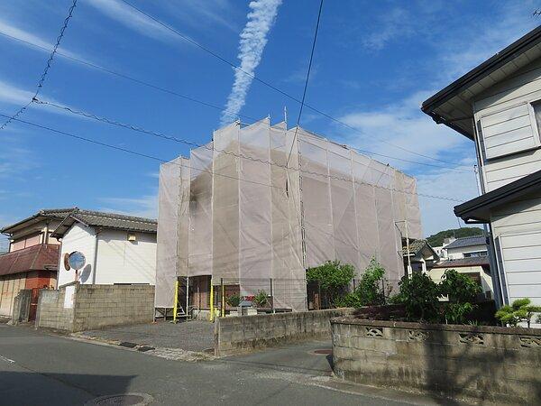 荒尾市万田において、屋根塗装の画像