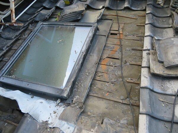 荒尾市大島において、屋根工事の画像