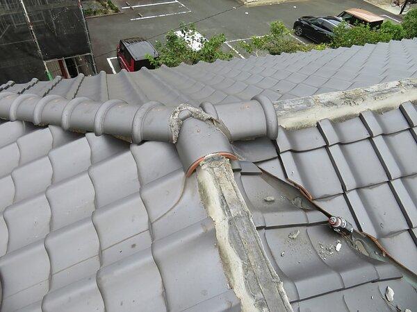 大牟田市八本町において屋根修理の画像